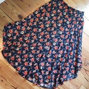 Hollister flowy Hawaiian print skirt